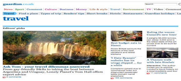 The Best Newspaper Travel Sections | Enduring Wanderlust